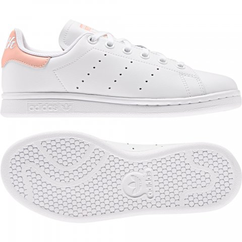 ADIDAS ORIGINALS STAN SMITH J FTWWHTGLOPNK