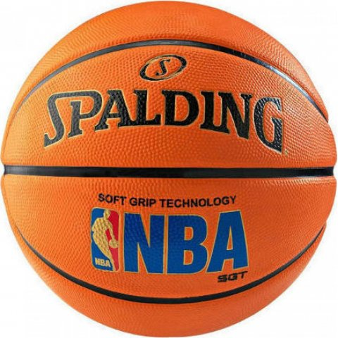 Spalding SPALDING LOGOMAN SOFT GRIP RUBBER BASKETBALL