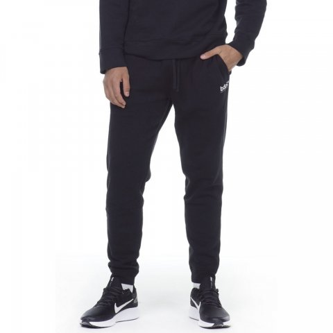 Body Action BODY ACTION MEN FLEECE SPORTSTYLE JOGGERS - BLACK