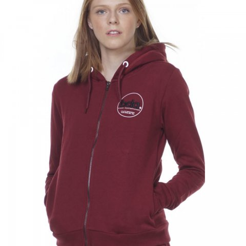 Body Action BODY ACTION WOMEN FUR LINED HOODIE - MAROON
