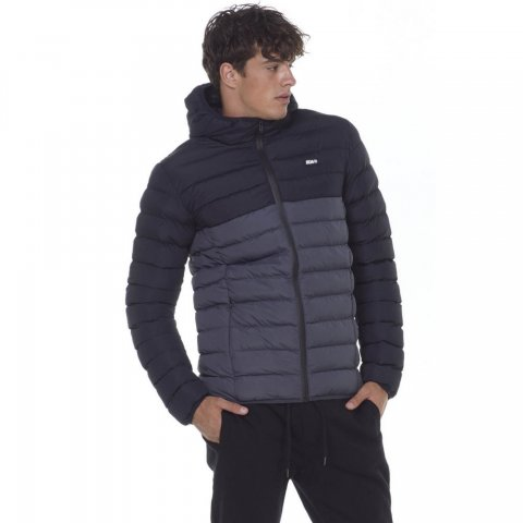 Body Action BODY ACTION MEN QUILTED JACKET WITH HOOD - CΗΑRCΟΑL