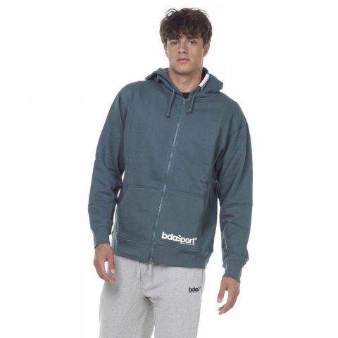Body Action BODY ACTION MEN FULL ZIP HOODIE - D.GREEN