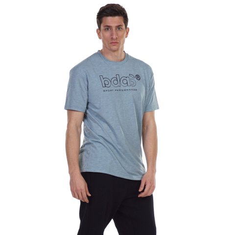 Body Action BODY ACTION MEN'S RELAXED FIT T-SHIRT L .BLUE
